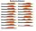ToKaEr einfarbige 30 Naturfederformen
