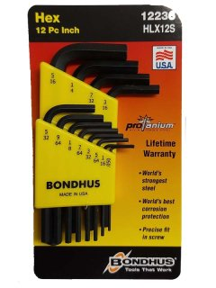 Bondhus Allen Wrench Set .050-5/16